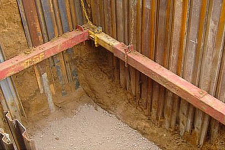 Excavations and sewer work